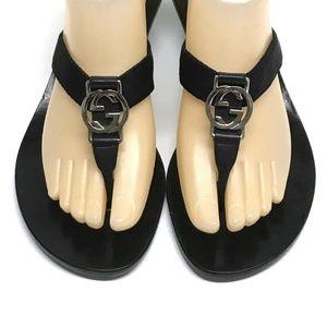 e8c91c8fabcb01 GUCCI Thong Sandals INTERLOCKING G Kitten Heels 8
